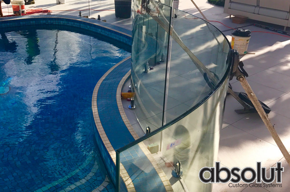 Curved Glass Pool Fences – Curved style at affordable prices.
