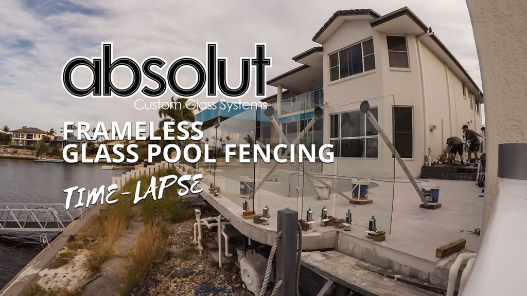 Time Lapse of Frameless Glass Pool Fence Install
