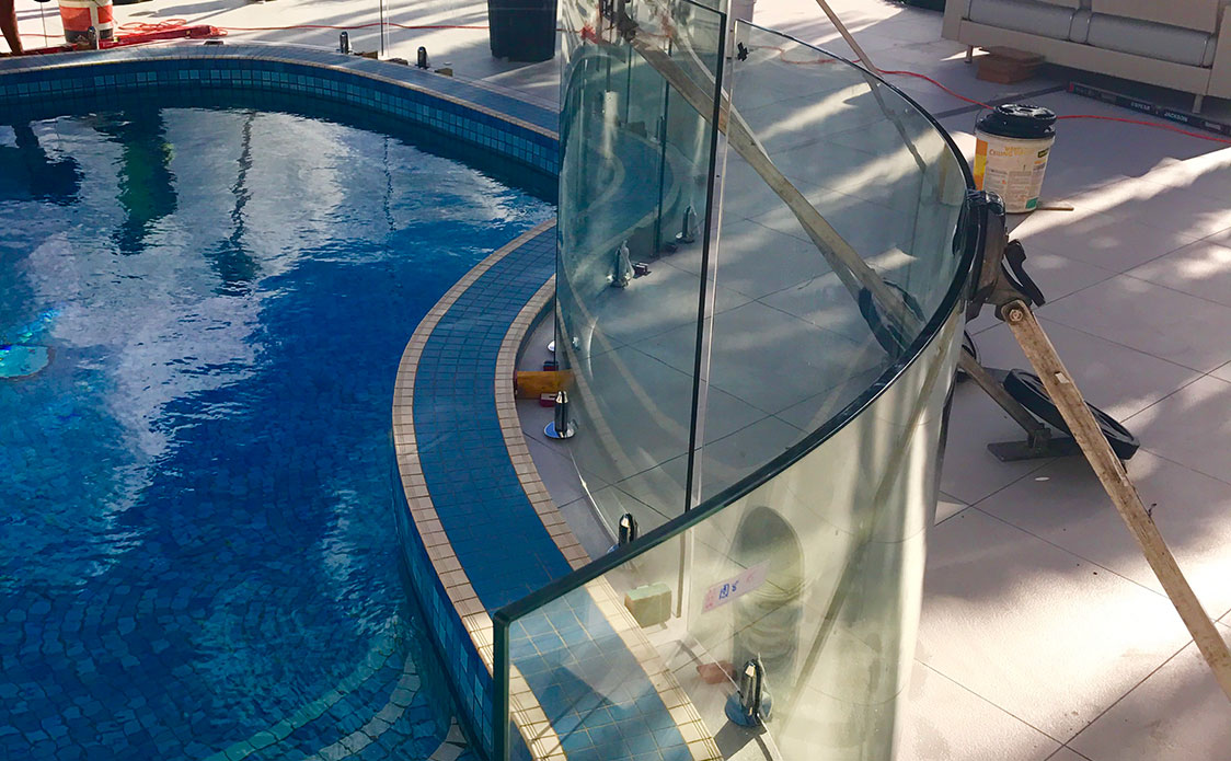 Allys Curved Glass Pool Fencing Gold Coast