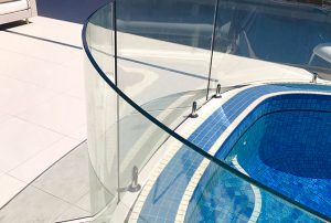 Bent and Curved Glass Pool Fencing