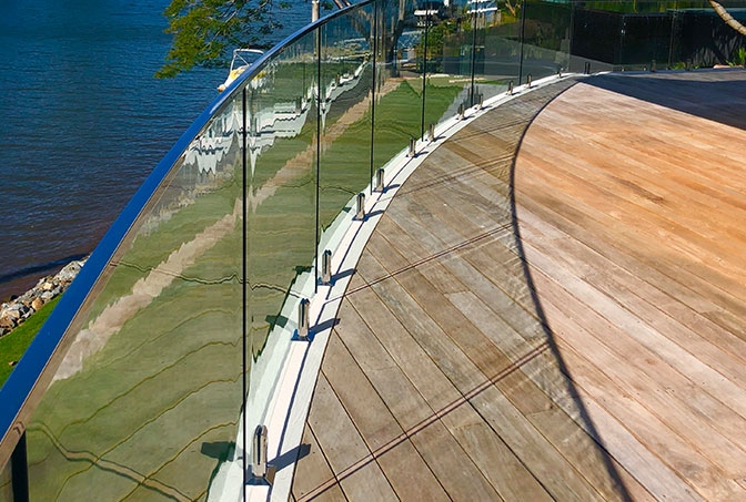 External Curved Glass Balustrade