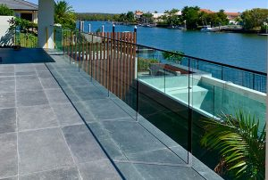 External Invisible Channel Fix Glass Balustrade