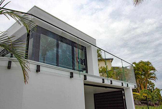 Face Mount Glass Balustrade
