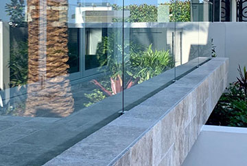 Invisible Channel Fix Glass Fencing