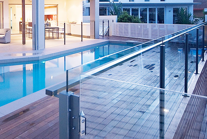 Three Quarter Post Semi-Frameless-Glass Pool Fencing Gold Coast