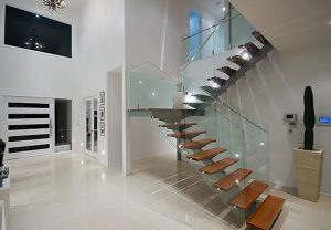 Internal Staircase Glass Balustrade